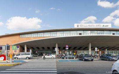 Sala de control de tráfico estación ADIF SANTA JUSTA SEVILLA