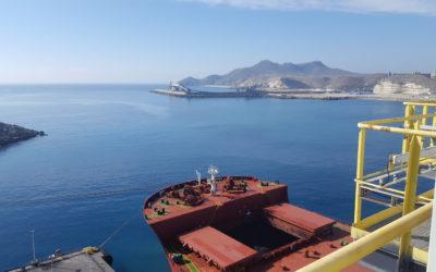 Descargadora de Buques terminal portuaria ENDESA CARBONERAS